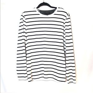 Banana Republic luxury touch striped blouse